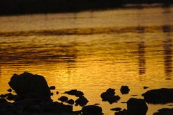 Coucher de soleil sur l'étang du Prévost