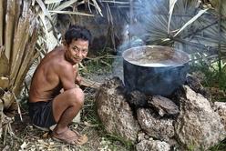 Cuisson du sucre de palme