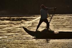 Pêche sur le Tonlé Sap