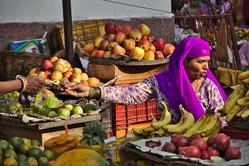 Au marché d'Udaïpur