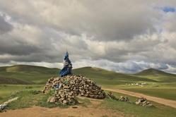 Ovoo sur les hauteurs de Karakorum