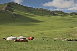 Campement au coeur de la steppe