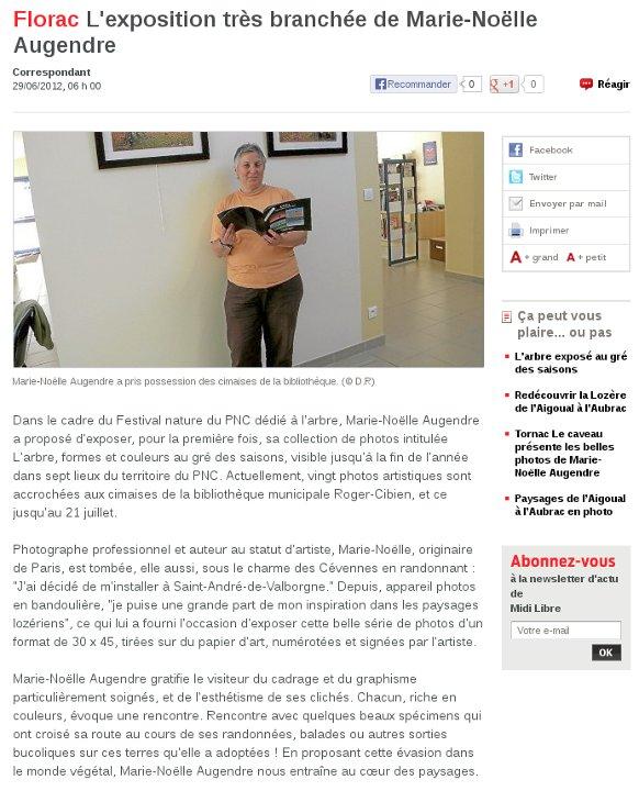 Midi Libre Florac - 29/06/2012