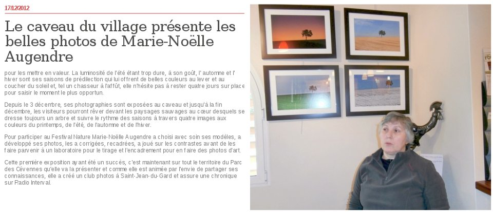Midi Libre Tornac - 17/12/2012