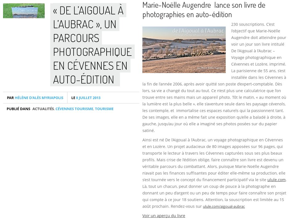 L'Audace en Cévennes - 08/07/2013