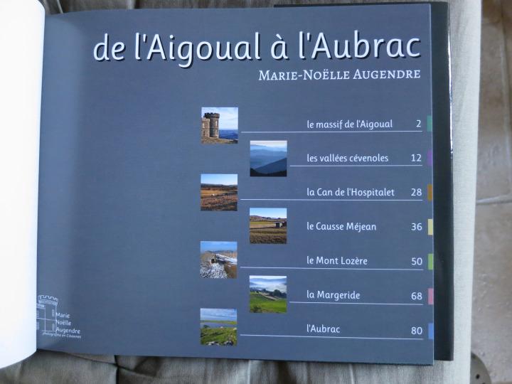 Sommaire du livre accompagnant l'exposition