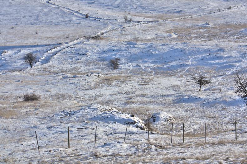 Le Villaret sous la neige