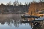 Le lac du Ganivet au lever du jour